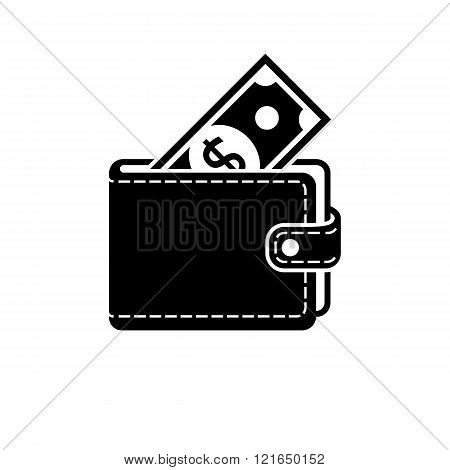 Wallet Icon Vector, Isolated.