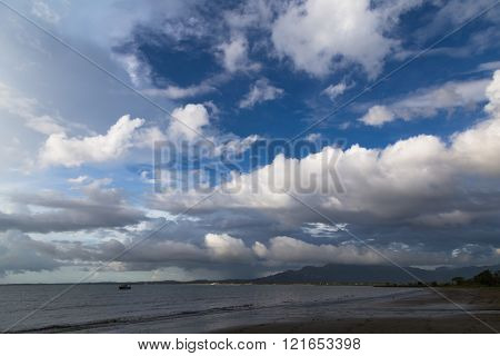 Clouds Over The Ocean Coast