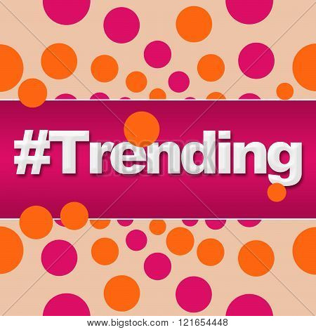 Trending Pink Orange Dots Square