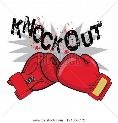 Boxing Gloves And Text