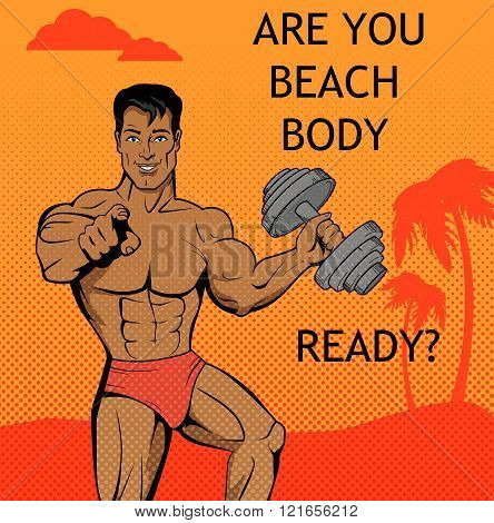 Fitness Boy. Beach Body Ready Design