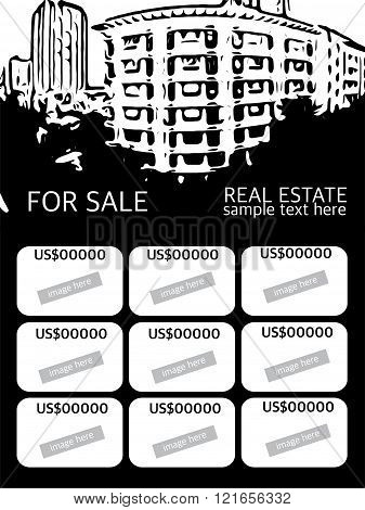 Black And White Real Estate Agent Advertisement