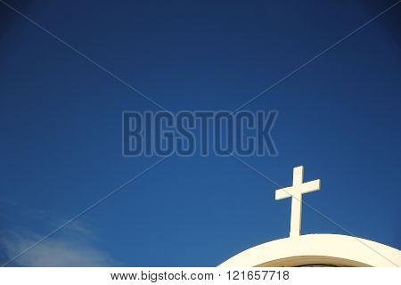 Church Cross Against The Sky