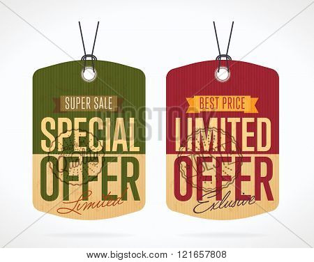 Special and limited offer sticker isolated vector