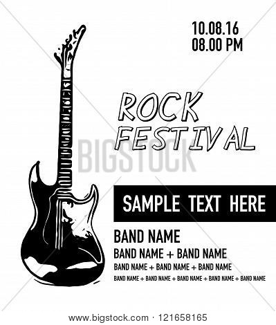 Poster Of Rock Concert Or Festival