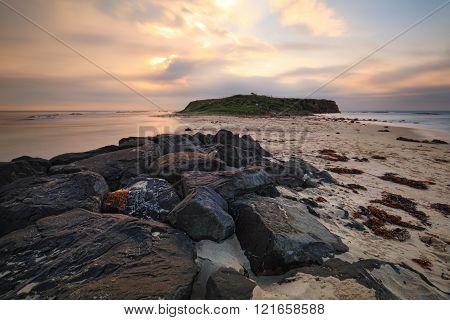 Long exposure after sunrise views towards Windang Island.  The native name for Windang Island was Kauyanggang