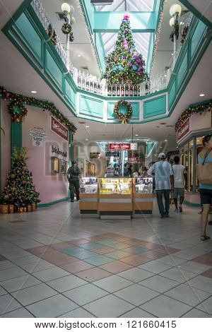 Shopping Mall Interior At Christmas