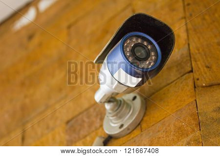 CCTV Security Camera Closed circuit television in modern white home style