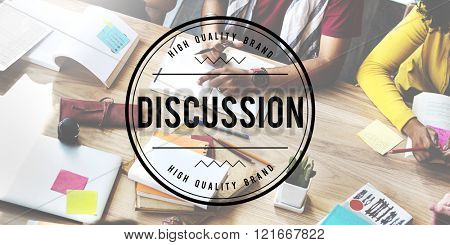 Discussion Communicate Conference Negotiation Concept