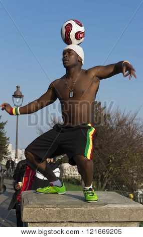 The Famous  Football Freestyler Iya Traore, Paris, France.