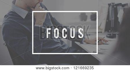 Focus Determine Concentration Focusing Chartiy Concept