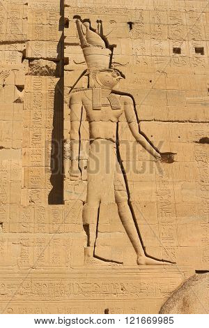 Horus Iin Temple Of Philae