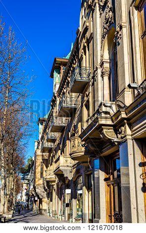 Buildings on Rustaveli avenue of Tbilisi