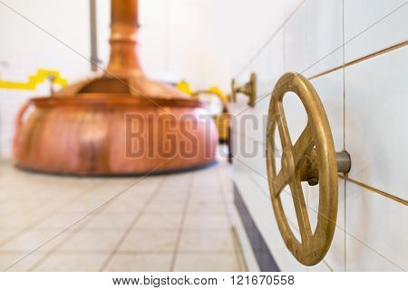 Closing Valve In The Brewery