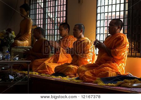 monk in prayers