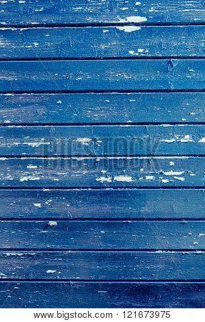 Blue Paint On Wood Background