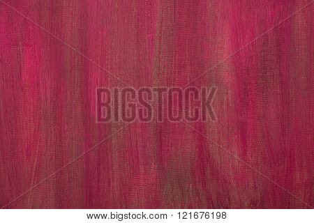 Red Painted Artistic Canvas