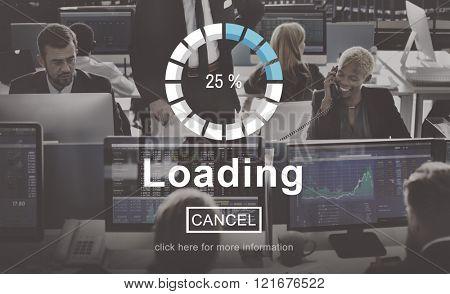 Loading Progress Indicator Interface Concept