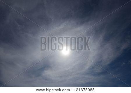 beautiful sun halo phenomenon in Penang, Malaysia
