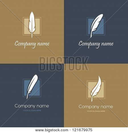 Four feather logos
