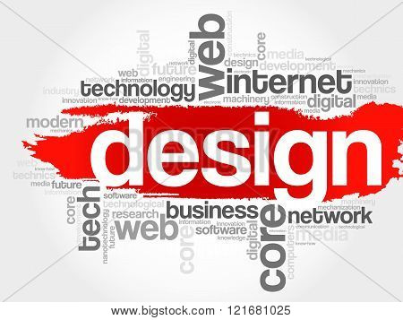 Design word cloud business concept, presentation background