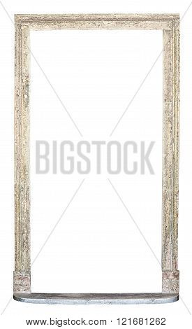 Old Vintage Stone Arch Isolated On White Background
