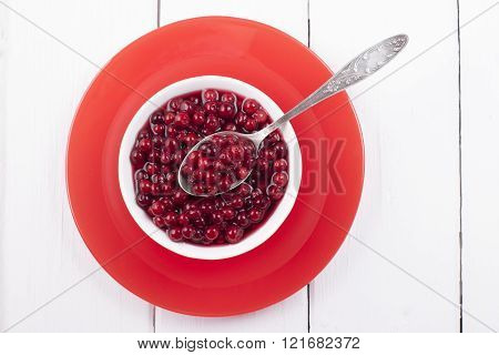 Pickled Cranberries In A Sweet Syrup