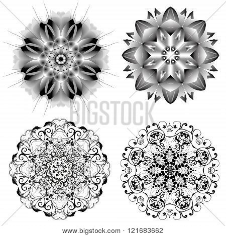 Set Of Different Circular Symmetric Patterns