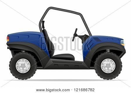 atv car buggy off roads vector illustration isolated on white background