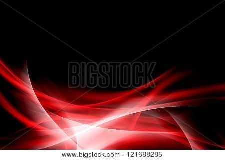 Red waves art. Blurred effect background. Abstract creative graphic design.