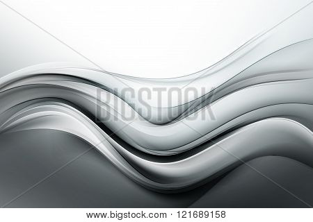 Grey waves art. Blurred effect background. Abstract creative graphic design.