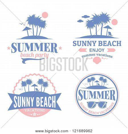 Set Of Vector Summer Logo
