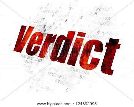 Law concept: Verdict on Digital background