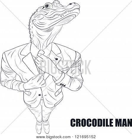 Cartoon character crocodile