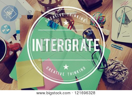 Integrate Membership Togetherness Merge Combine Concept