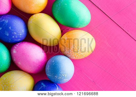 Colored Dyed Natural Hens Eggs For Easter