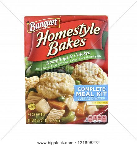 Box Of Banquet Dumplins & Chicken Meal Kit