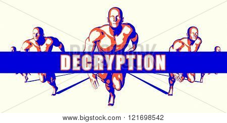 Decryption as a Competition Concept Illustration Art