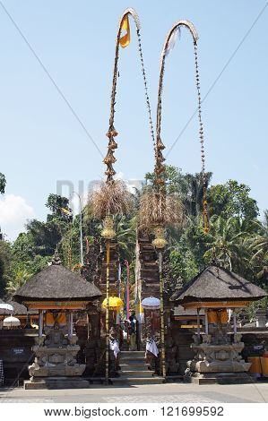 BALI, INDONESIA - DECEMBER 01, 2015: Pura Tirta Empul, one of the sights of Bali on December 01, 2015 in Bali, Indonesia
