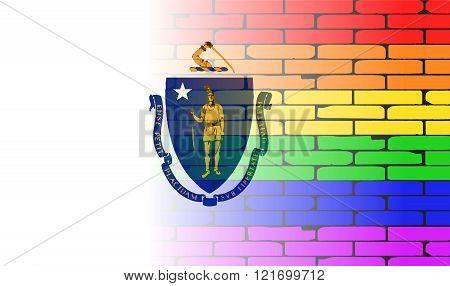 Rainbow Wall Massachusette