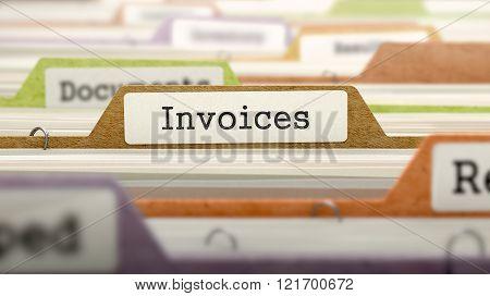 Invoices Concept on Folder Register.