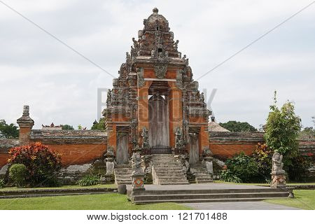 BALI, INDONESIA - SEPTEMBER 29, 2015: Pura Taman Ayun, one of the most important temples of Bali on September 29, 2015 in Mengwi, Indonesia