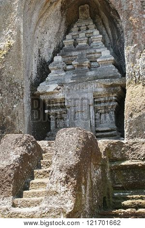 BALI, INDONESIA - DECEMBER 01, 2015: Tombs and temple of Gunung Kawi close to Ubud on December 01, 2015 in Bali, Indonesia