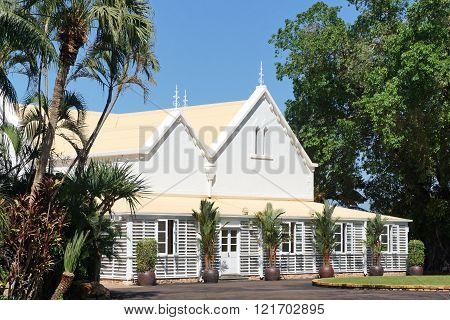 DARWIN, AUSTRALIA - MAY 12, 2015: Historic Government House of Darwin on May 12, 2015 in Australia