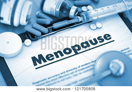 Menopause. Medical Concept.