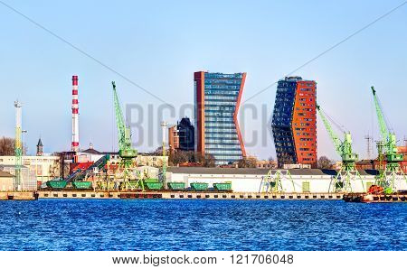 The cargo and cruise terminal of Klaipeda city.