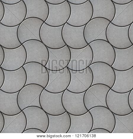 Gray Pavers. Seamless Tileable Texture.