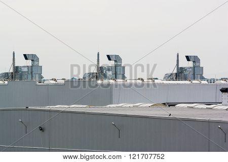 Ventilation System On A Plant