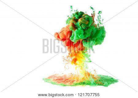Motion Multicolor Fluid