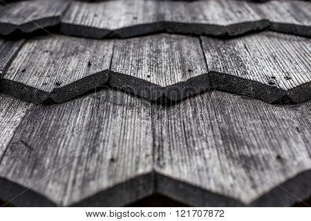 Element Of Old Wooden Roof